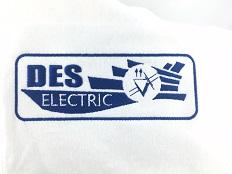 Plakietka haftowana w białym kolorze