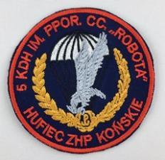 Plakietki haftowane dla hufca ZHP