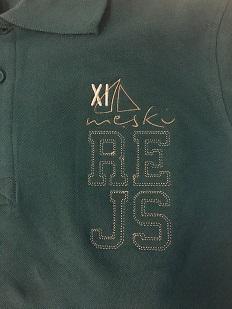 Zielona koszulka Polo na guziki z haftem z przodu na lewej piersi