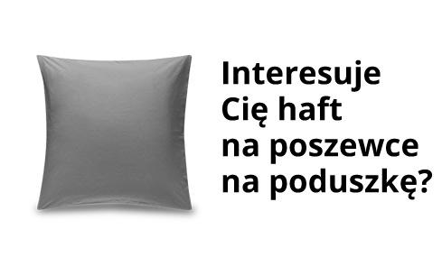 Poszewki na poduszkę z własnym haftem