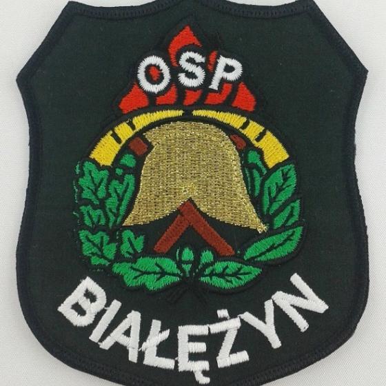 Plakietki haftowane dla OSP w Białężynie