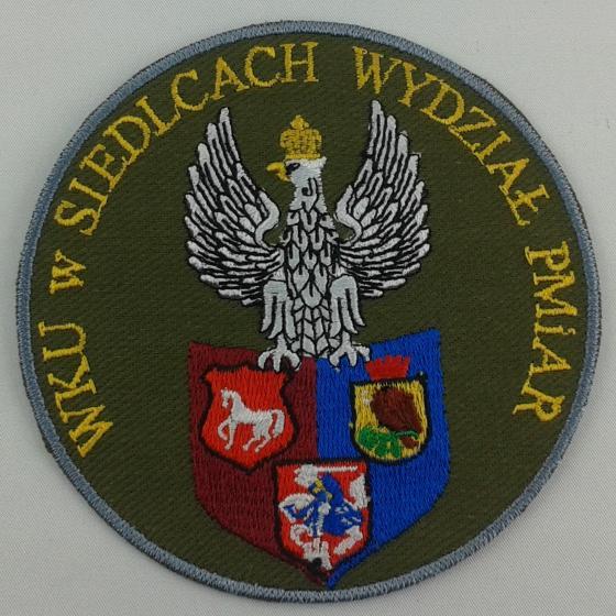 Plakietka haftowana dla WKU w Siedlcach